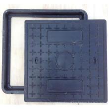 Tampa de bueiro quadrado de resina de polímero