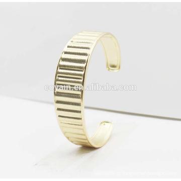 Moda 316L aço inoxidável bracelete de punho de ouro 2016