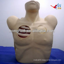 ISO Pleural Drainage Manikin,Pneumothorax Decompression, closed chest drainage simulator
