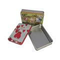 Caja de estaño de regalo de impresión personalizada de metal contenedor de estaño