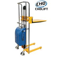 400KG Semi-Electric light-duty pallet stacker
