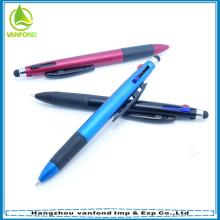 2015 3 multifuncionais promocionais caneta de toque plástico barato tela da cor