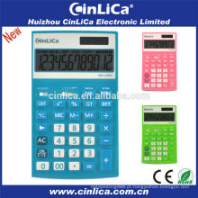 Calculadora digital eletrônica colorida de 12 dígitos, calculadora científica do imposto