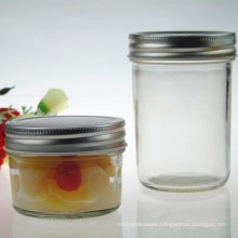 100ml 200ml Mason Glass Jam Jar with Metal Lids Wholesale