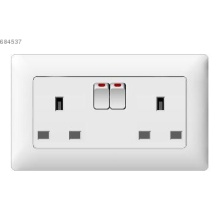 two gang 13A  BS socket