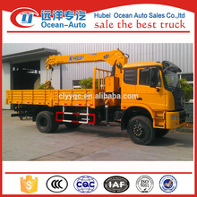 Dongfeng 4x4 truck crane with XCMG 5ton crane for sale
