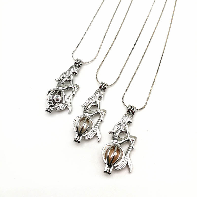 Fashion Pearl Cage Pendant Jewelry Gift