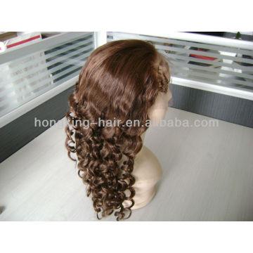 pelucas llenas del cordón de la belleza pelo humano brasileño
