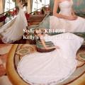 Vestidos de noiva brasileira de cor de creme de marfim com oferta quente ou Vestidos de noiva com piso de comprimento Hemline e OEM Fornecer um longo vestido de casamento