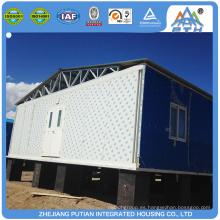 Casa de contenedores prefabricados de acero ligero de América en buen diseño