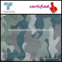 Ejército diseño tejido de popelín de alta calidad de algodón peinado 100 camuflaje clásico fino medio impreso tela
