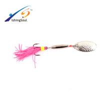 SPL036 Vente chaude en gros leurre de pêche pêche spinner appât métal spinner appât