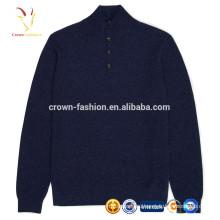 Мужские открытой передней трикотажные Кашемировый свитер с кнопками