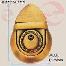 Handbag Metal Supplier Manufacture Big Bellied Push Lock