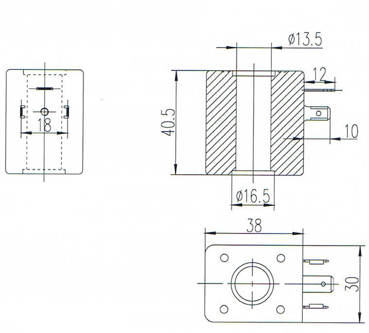 Overall dimension of Best-Nr0200 economical pulse valve coils