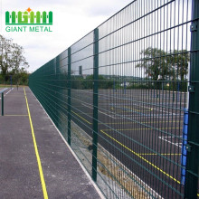 PVC+Coated+Hot+dipped+Galvanized+Double+Wire+Fence+Panels+for+Airports+Military