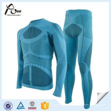 Conjuntos térmicos do roupa interior da camada baixa do roupa interior do esqui exterior