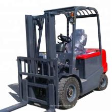 Novo tipo 4 rodas empilhadeira elétrica de 2 toneladas