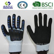 Gants de sécurité résistant à la coupe avec revêtement de nitrate de sable