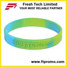 Подгонянные силиконовые браслеты с вашим логотипом