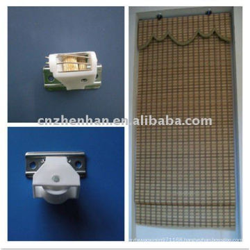 White Color Cord Lock And Cord Pulley To Bamboo Blindswoven Wood