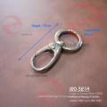 Stong couleur argentée de 1 pouce Anneau Mousqueton rond