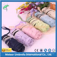 Fashion Smart Manual Open 5 Folding UV Block Sun Umbrella