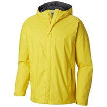 Plus Size Waterproof Lightweight Yellow Raincoat for Men