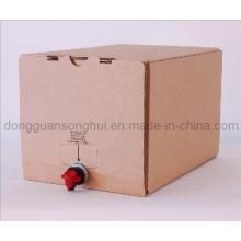 Saco do vinho na caixa / saco na caixa com bico / saco líquido na caixa