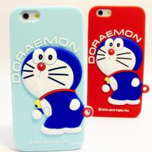 Étui en silicone mignon Doraemon en 3D pour iPhone
