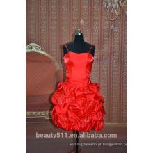Vestido de festa sem mangas com espaguete Vestido de noiva com vestido de festa curto SE01