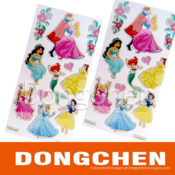 Kundenspezifische Weihnachtsförderungsfarbe Dekorative Glitter Sticker