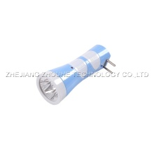 4pcs led light plastic torch rechargeable flashlight
