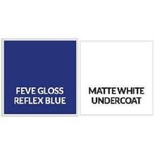 Feuille d'aluminium Feve Gloss Reflex Blue