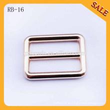 RB16 Luz oro redondo connor metal ajustable bolsa hebilla