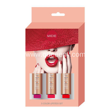3 Color Lipstick Set