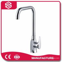 deck mounted kitchen mixer taps square zinc kitchen tap