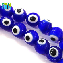 10mm turque bleu foncé rond mauvais œil perles