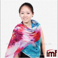 Nova chegada lenços de lótus lindos cachecóis mulheres com design de flores