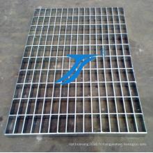 Grille en acier de style simple utilisée dans le couvercle de fossé