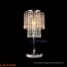 2017 latest design decoration table lamp crystal table light in guestroom