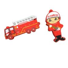 Promotional Gift PVC USB Stick  Custom Fire Series Shape   USB Flash Drive