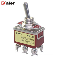 KN3C-202 15A 12MM ON ON Locking 2 Way 250V DPDT 6P Toggle Switch