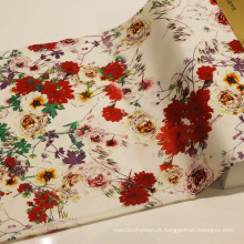 2016 impressão de moda algodão spandex tecido
