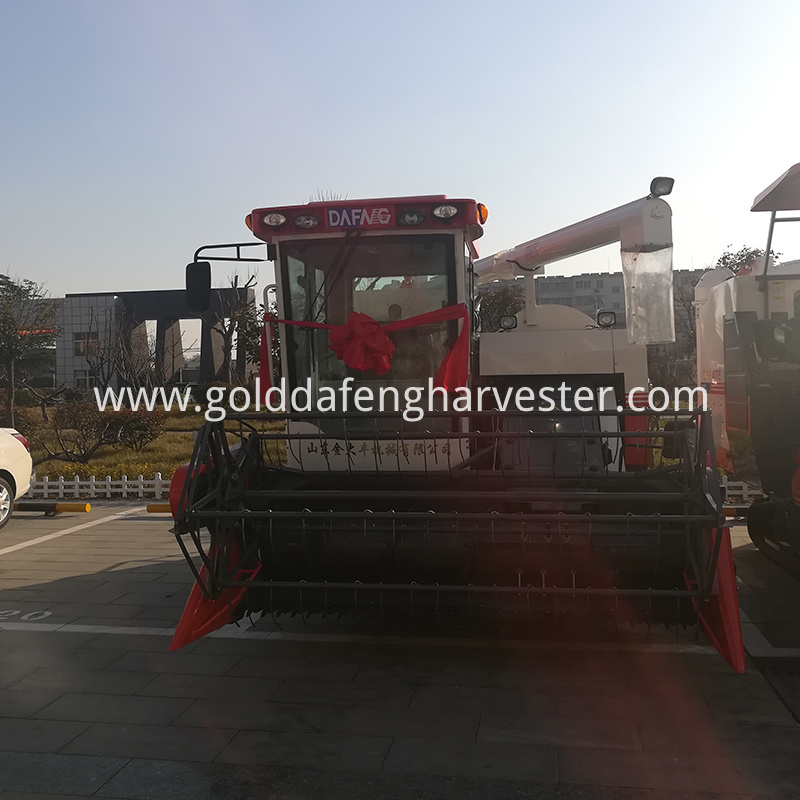 hydro static transmission function of rice harvester with cab