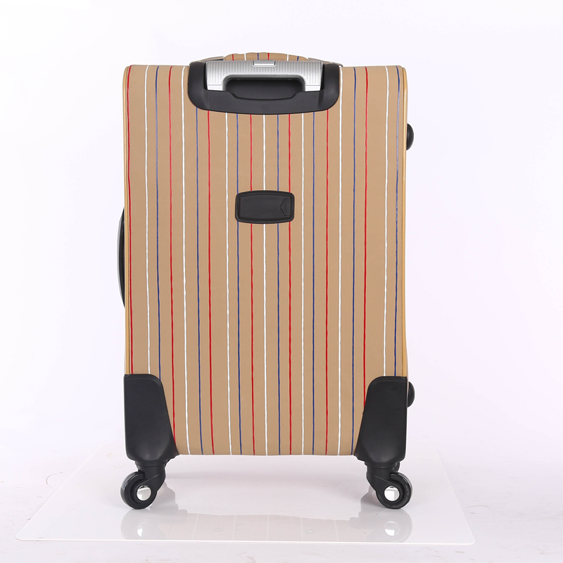 tartan design luggage