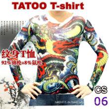 2016 heißeste schöne lange Hülse Tätowierung T-Shirt