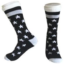 Medio cojín poli rayas y estrella de moda calcetines largos (jmpc01)