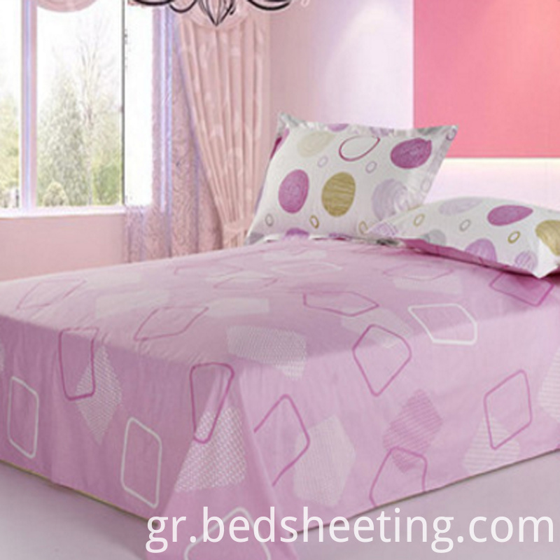 Pink Bed Sheets With Printing