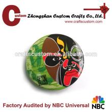 Custom advertising badge printed pattern tin plate button badge